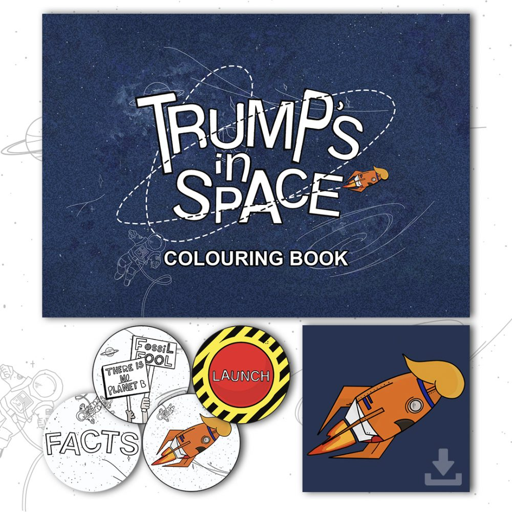 trumps in space shop graphic
